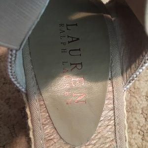 Ralph Lauren Shoes - Ralph Lauren Striped Tan Wedges
